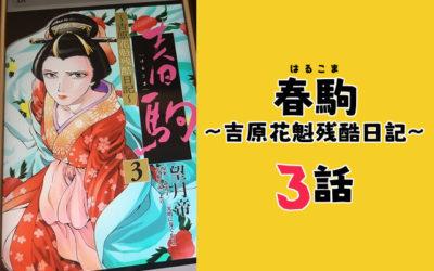 春駒 漫画 3話 ネタバレ